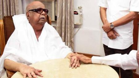 DMK patriarch M.Karunanidhi fever is coming down