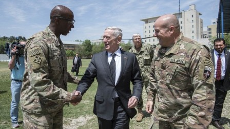 James Mattis arrives in Afghanistan on surprise visit