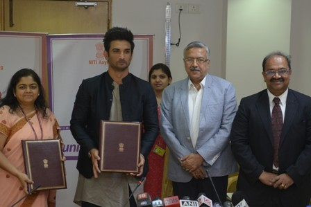 NITI Aayog signs on Sushant Singh Rajput to promote WEP
