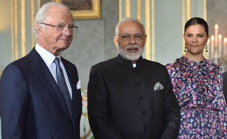 Narendra Modi meets King of Sweden