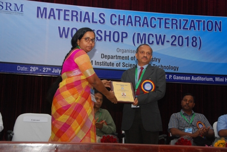 SRM IST Department Chemistry organised Materials Characterizati