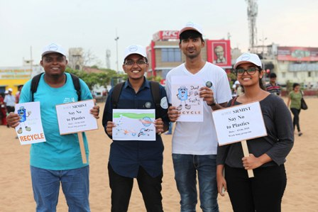 SRM'S Sustained efforts towards a Plastic free Environment
