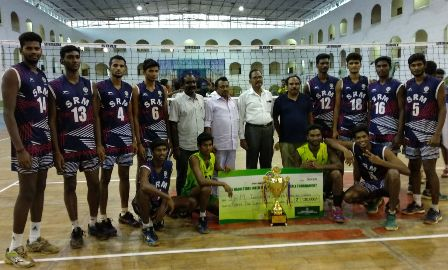 SRM Volleyball Team Won GOLD Medal in TNIUV Championship