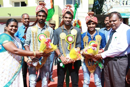 Silver Medalists of Asian Games - 2018 Felicitated at Vellammal