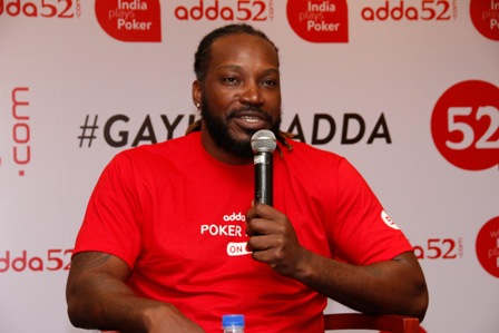 Universe Boss ?Chris Gayle? comes on board with Adda52 as a bra