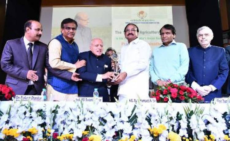 Prof MS Swaminathan receives World Agriculture Prize, institutes fellowship with prize money