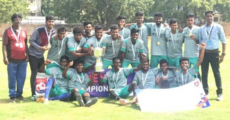 SRM IST Football Men Team won Reliance Foundation Youth Sports