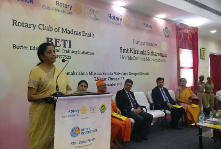 Rotary Club of Madras East donates  Rs. 1 crore to Sarada Vidyalaya