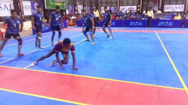South Zone Inter University Kabaddi Men Tournament Third Day Results