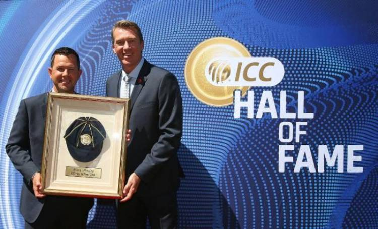 Ricky Ponting formally inducted into the ICC Cricket Hall of Fame
