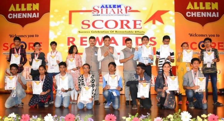 Champions of ALLEN Sharp Exam Felicitated in the SCORE ceremony