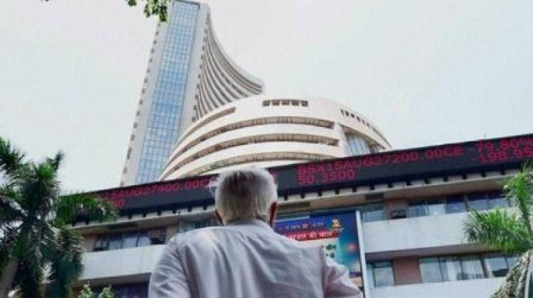 Sensex down 130 points minutes after opening in green
