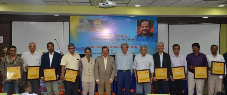Union Minister Dr. Harsh Vardhan launches three DST Technology Mission Centres at IIT Madras