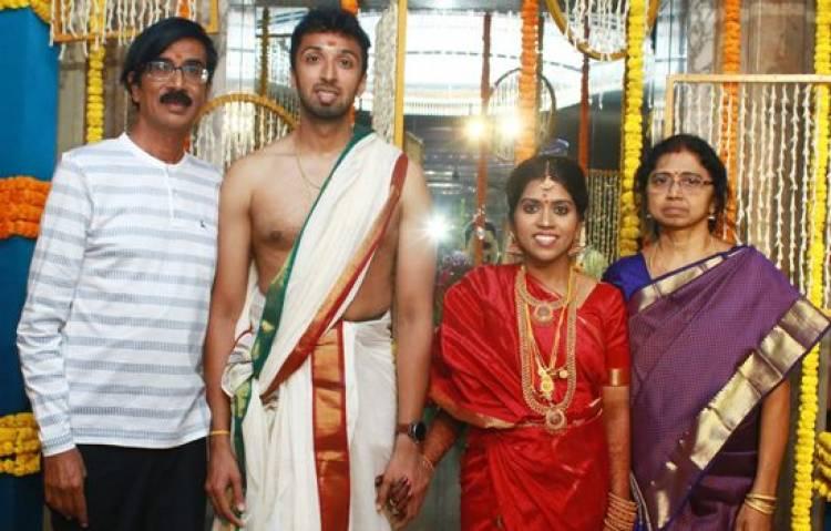 நடிகர் மற்றும் இயக்குனர் மனோ பாலாவின் மகன் ஹரிஷ் - பிரியா திருமணம் இன்று நடைபெற்றது