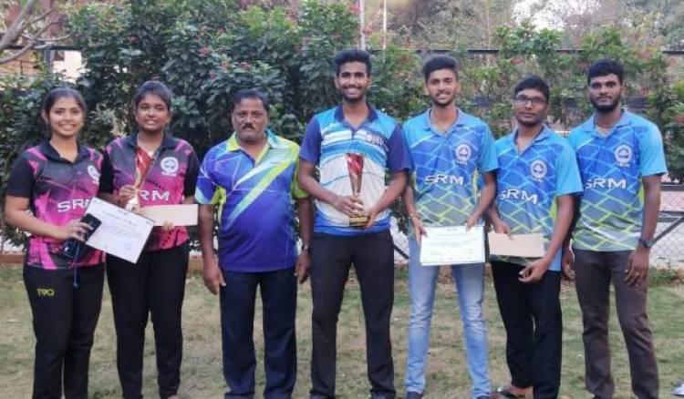 SRM IST Won All India Intercollegiate Badminton Tournament, VIT Vellore