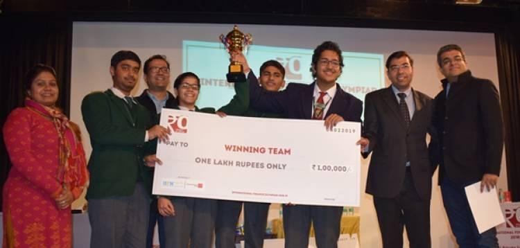 DPS RK Puram bags International Financial Olympiad 2019 award