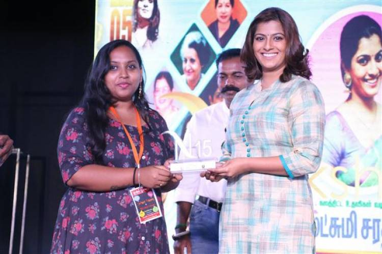 Actress Varalaxmi Sarathkumar at DG Vaishnav College