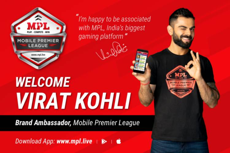 Virat Kohli appointed as Brand Ambassador of Mobile Premier League