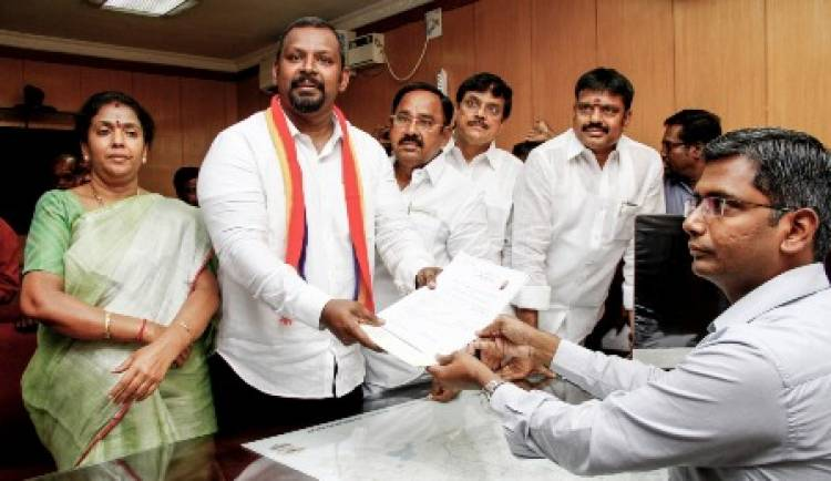 PMK Central Chennai Candidate Dr. Sam Paul submitted his nomination
