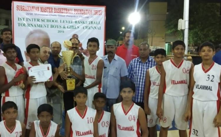 Velammal Hails Victorious In Basket Ball Tournament