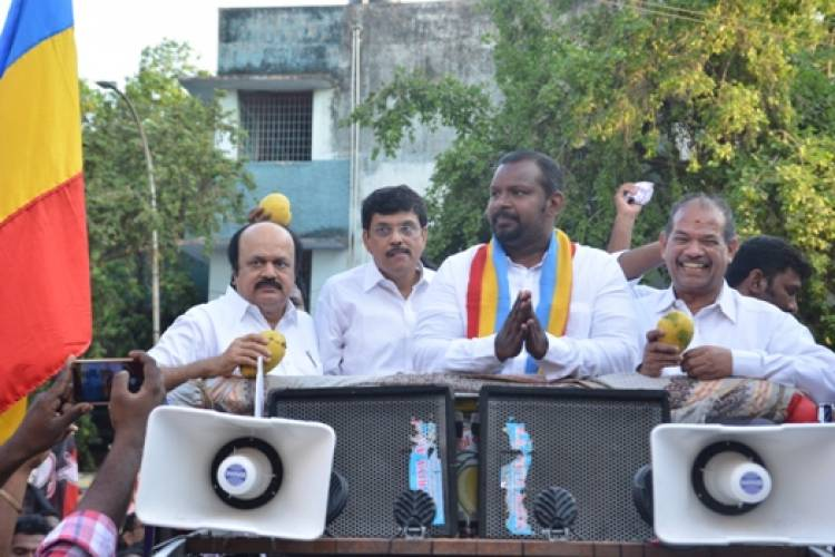PMK Central Chennai candidate Dr. Sam Paul at Villivakkam