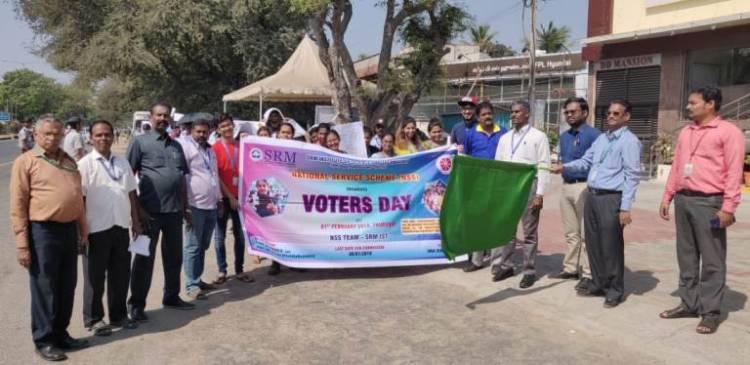 Awareness Rally on VOTING at Guduvanchery