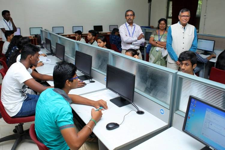SRM group of Institutions All India Entrance Examination for B.Tech and Health Sciences started today