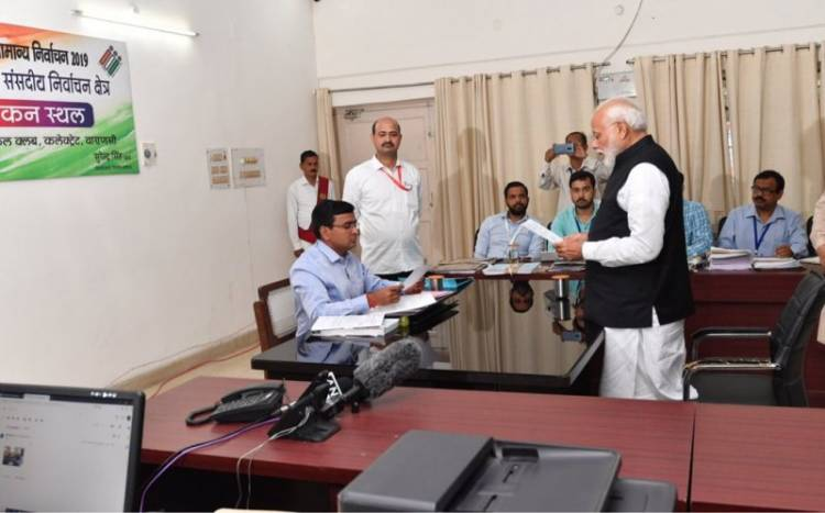 PM Modi files his nomination papers for Varanasi Lok Sabha Constituency
