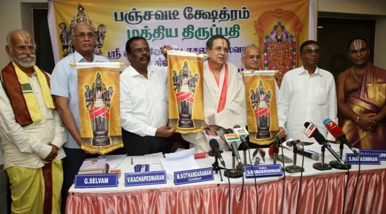 TTD Donates Seven-and-half feet Sri Venkatachalapathi Stone Idol To Panchavatee