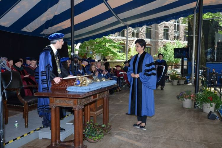 Indra K. Nooyi received honorary degree at the Yale Commencement ceremony