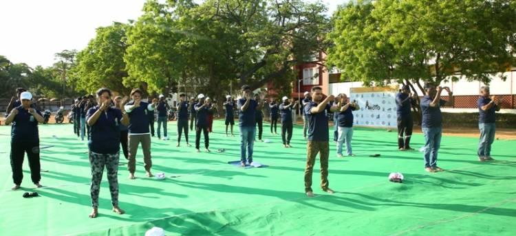 India tourism Chennai and Big Biking Commune organise World Moto Yoga Day