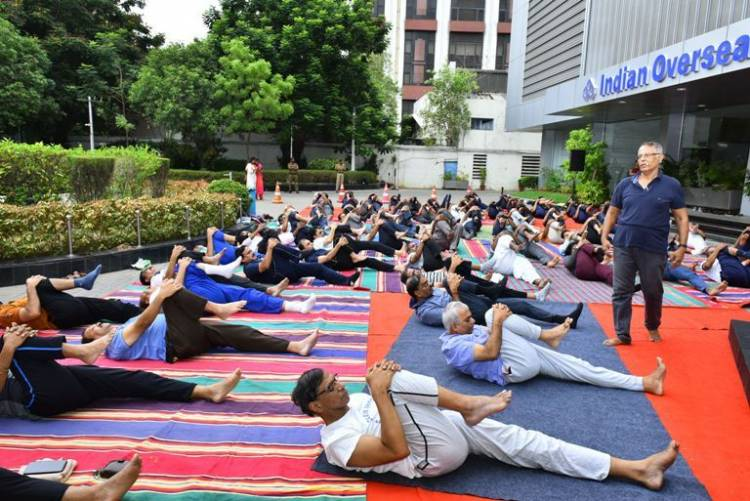 Indian Overseas Bank celebrates International Yoga Day