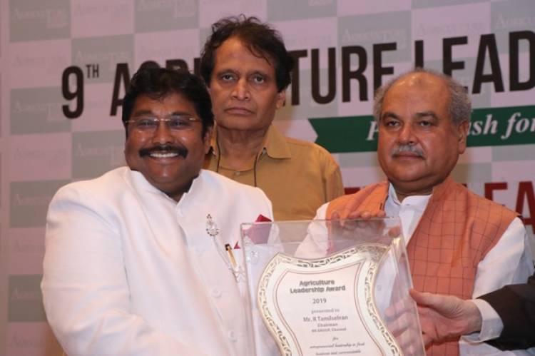 Salem RR Group Chairman RR Tamilselvan gets 'Entrepreneur Leadership Award'