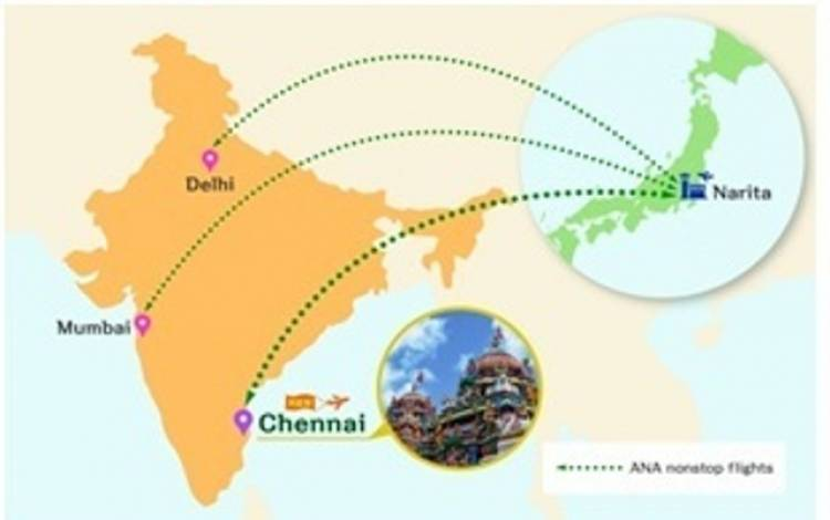 All Nippon Airways to begin flights from Tokyo to Chennai