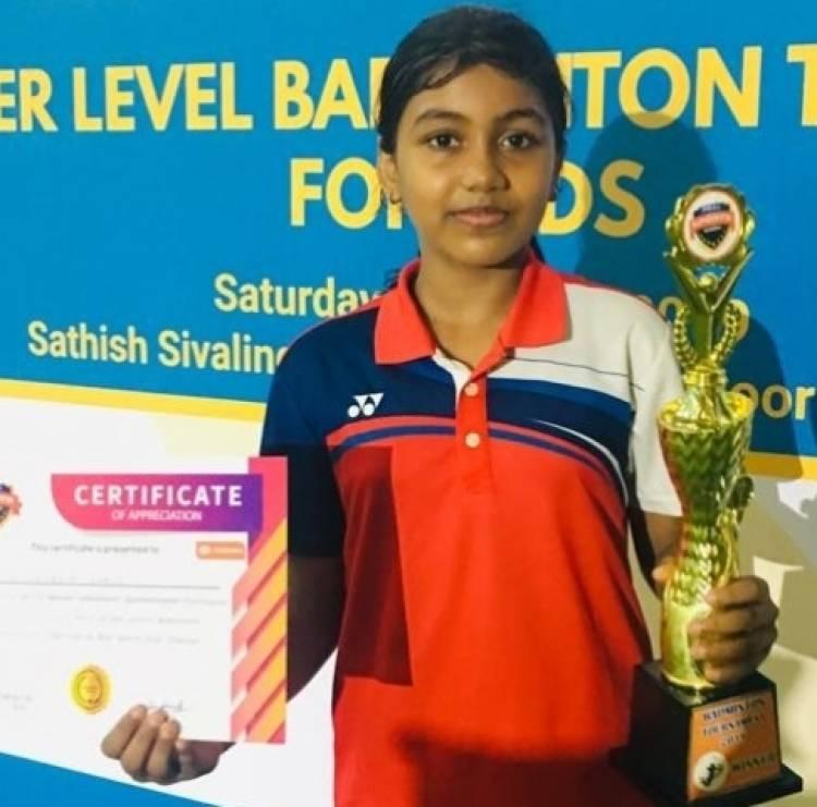 Velammal Excels In Badminton