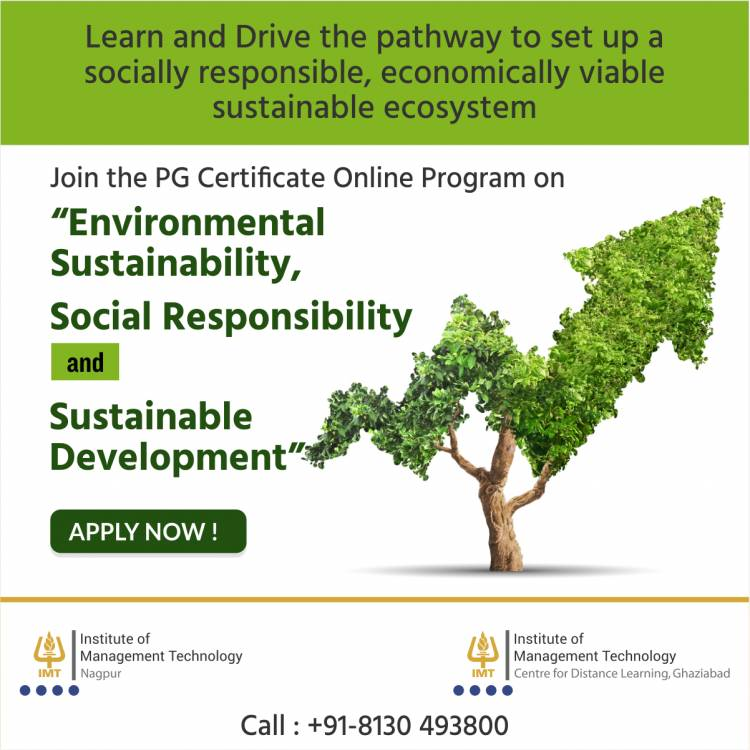 IMT CDL launches India's first-ever comprehensive Online PG Certificate program in Sustainable Development