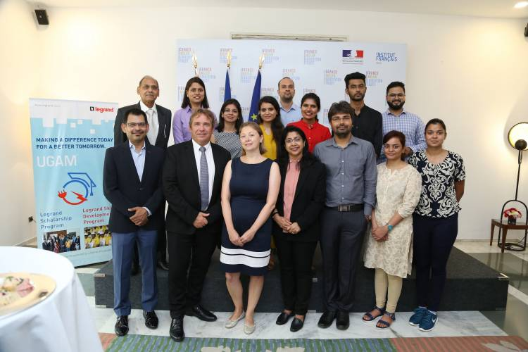 Legrand India felicitates the second batch of 'UGAM scholarship programme' for higher education in France