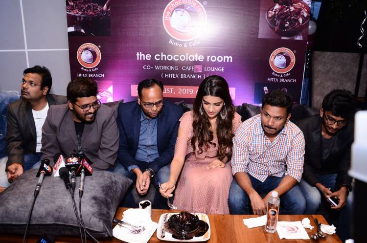 Actress Niddhi Agerwal inaugurates The Chocolate Room first Co- Working Café & Lounge