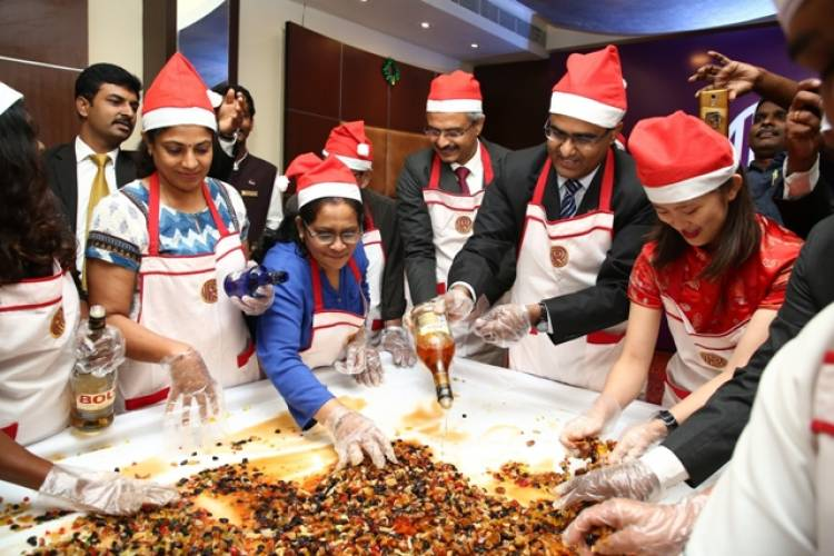 Christmas Cake Mixing Ceremony at The Residency on 23rd October 2019