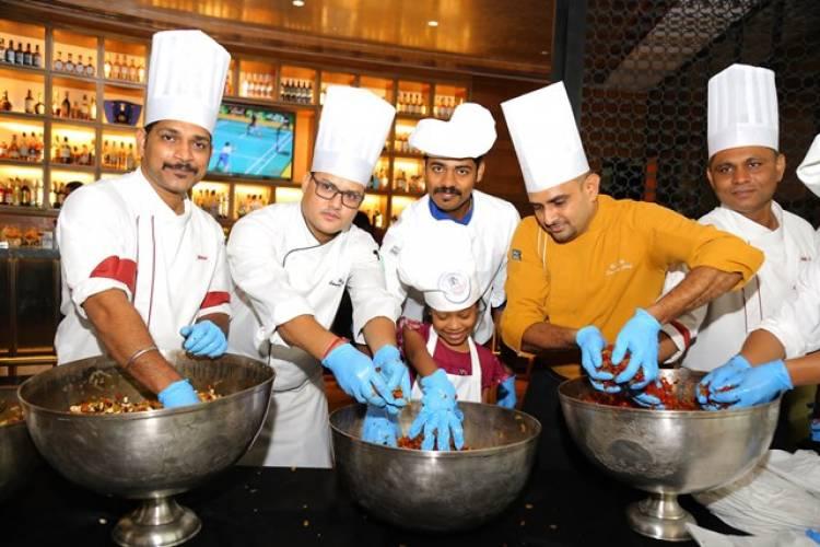 Cake Mixing at Park Hyatt Chennai