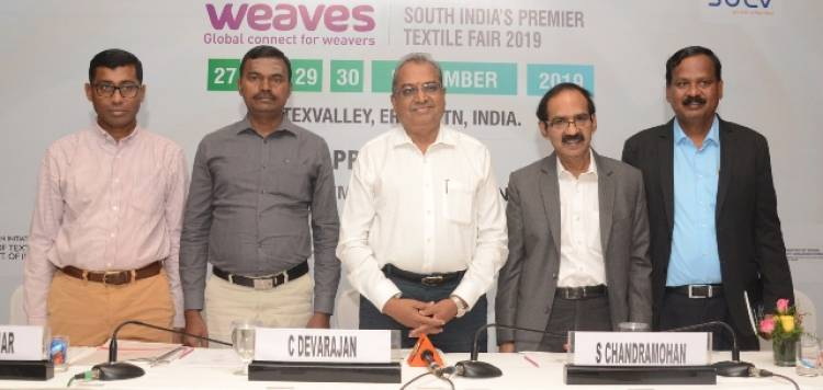 """CII And Texvalley To Organise 2nd Edition Of South India's Premier Textile Fair """"Weaves"""""""