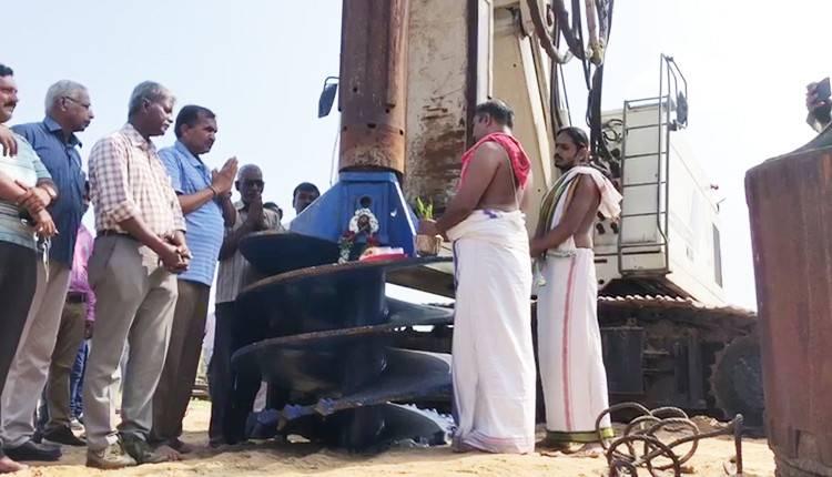 பாம்பனில் ரூ.250 கோடி மதிப்பில் புதிய ரயில்வே பாலம் கட்டும் பணி தொடக்கம்