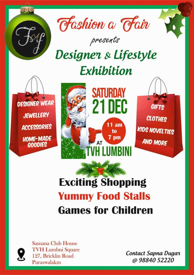 Fashion a Fair Presents Designer and Lifestyle Exhibition on 21st December