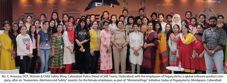 """Pegasystems hosts SHE Team, Hyderabad to spread awareness on """"Women Safety Practices & Self-Defence Techniques"""""""
