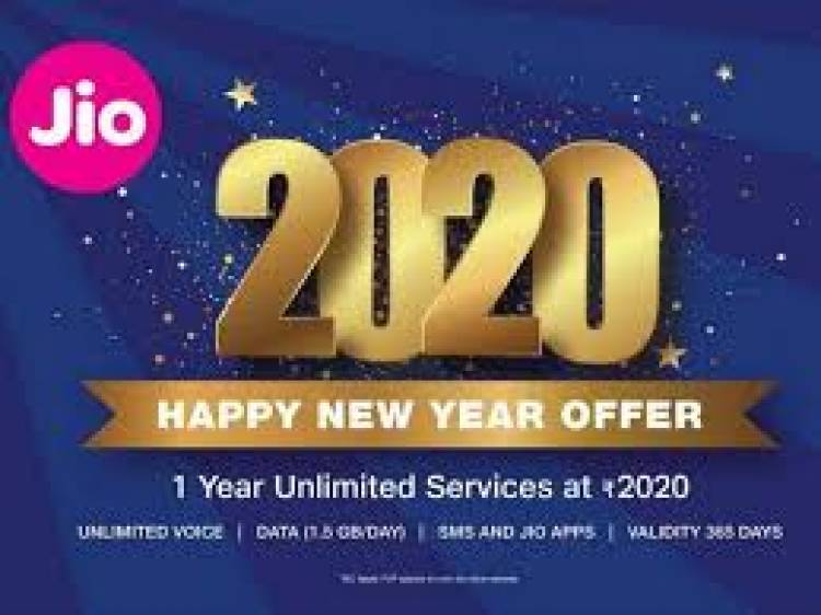 Jio unveils '2020 Happy New year offer'