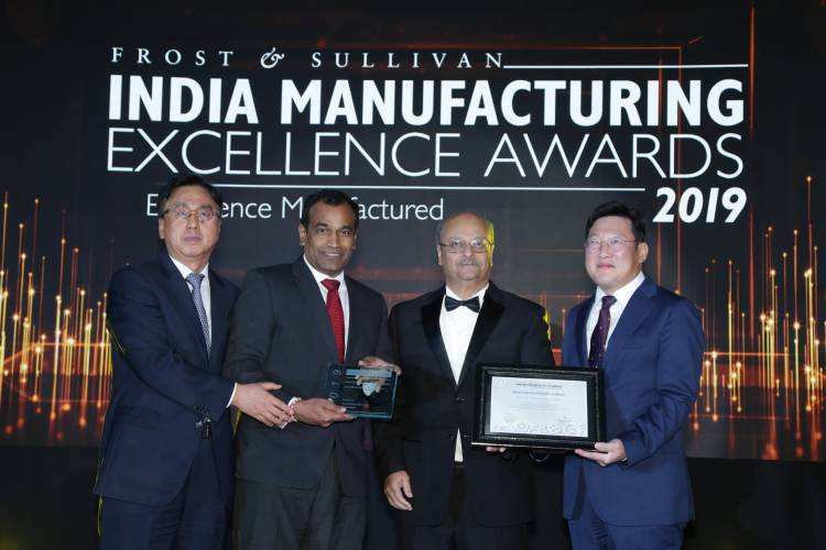 Hyundai Motor India Limited wins  'Indian Manufacturer of the Year – 2019' and 'Smart Factory Award' at the India Manufacturing Excellence Awards