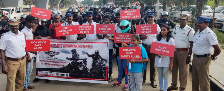 Helmet Awareness Rally in Chennai
