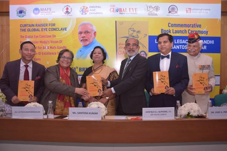 'Lasting Legacy of Gandhi' by Ma Santosh Kumar unveiled in Delhi
