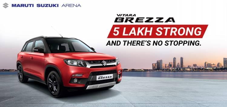Maruti Suzuki Vitara Brezza crosses 500,000 sales in 47 months, fastest amongst Compact SUVs