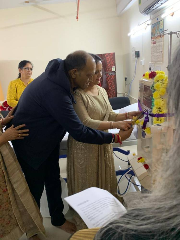 INAUGURATION OF A NEW HAEMODIALYSIS MACHINE FOR THE GREATER CHENNAI CORPORATION